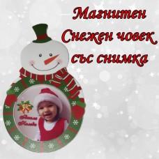 """Коледен магнит """"Снежен човек"""""""