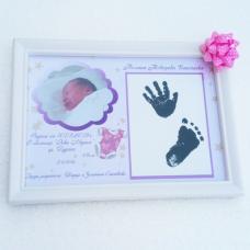 Бебешка Визитка с Място за Отпечатаци + ПОДАРЪК РАМКА