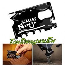 Мулти Инструмент Wallet Ninja 18 в 1